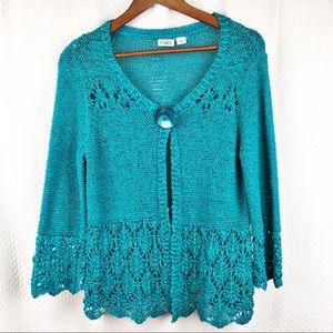 Cato Cardigan Sweater One Button Size Medium